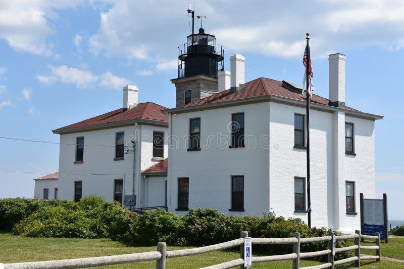 Farol de Beavertail em Jamestown, Rhode - ilha imagens de stock royalty free