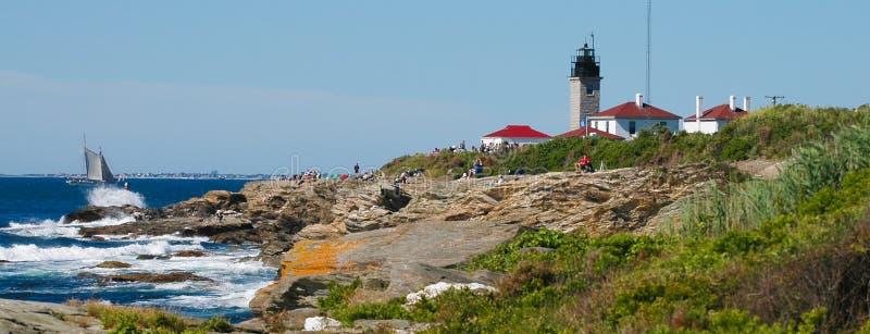 Farol de Beavertail, Jamestown, Rhode - ilha fotos de stock