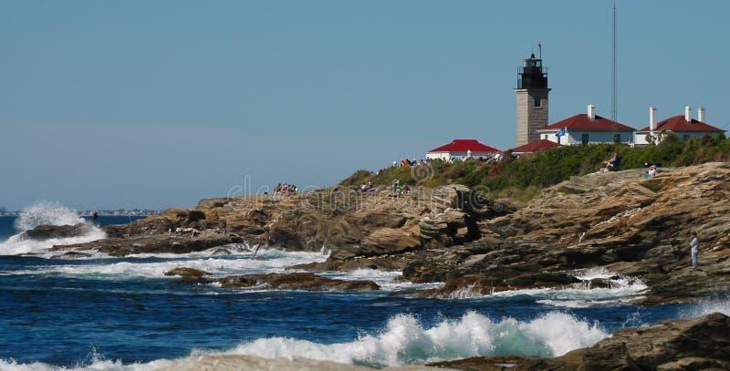 Farol de Beavertail, Jamestown, Rhode - ilha foto de stock royalty free
