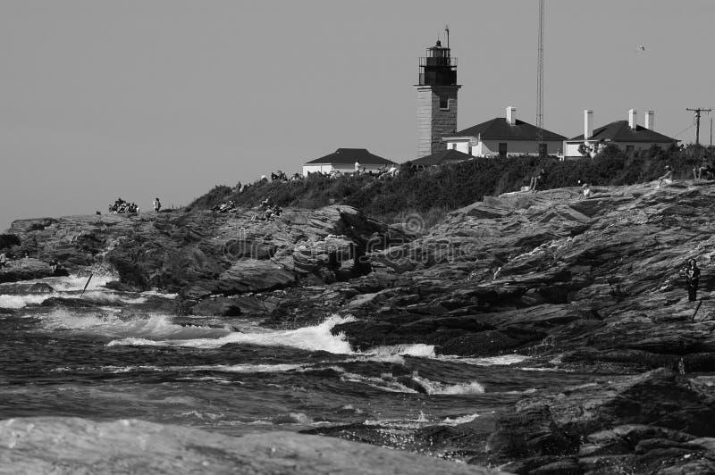 Farol de Beavertail, Jamestown, Rhode - ilha fotografia de stock royalty free