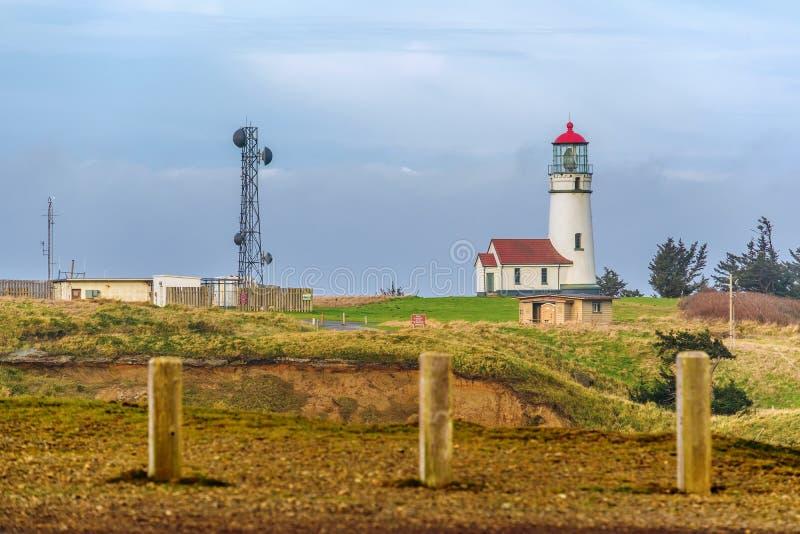 Farol de Blanco do cabo na Costa do Pacífico, construída em 1870 imagens de stock