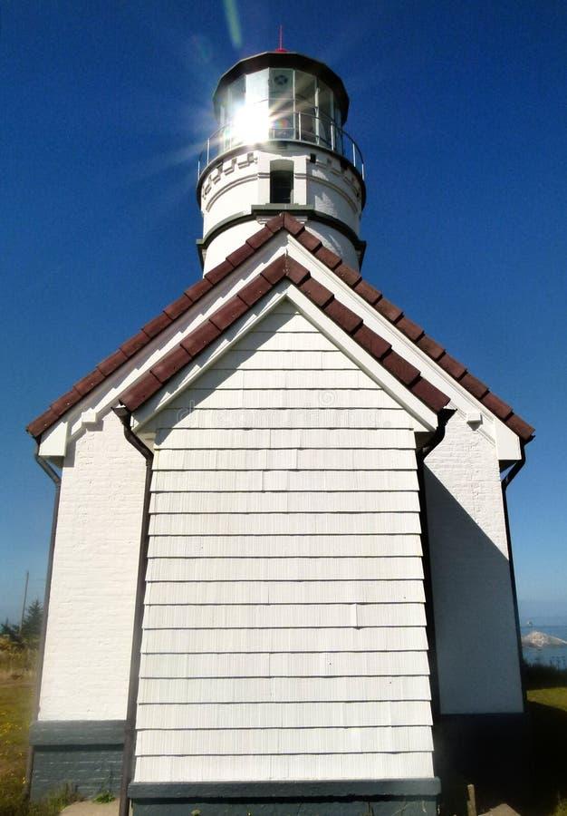 Farol de Blanco do cabo, o Condado de Curry, Oregon imagens de stock