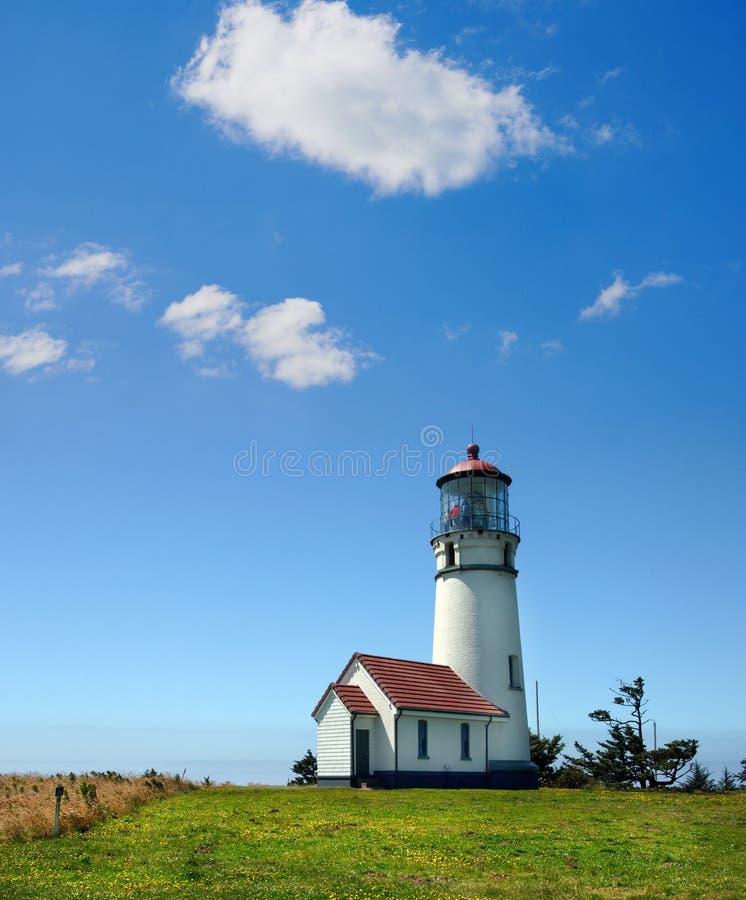 Farol de Blanco do cabo, Oregon imagens de stock