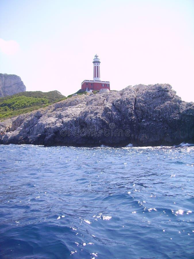 Farol de Capri fotografia de stock royalty free