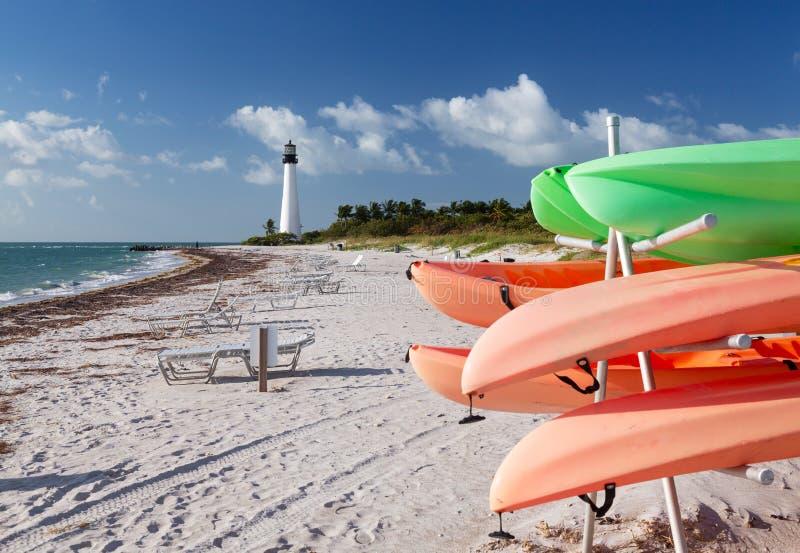 Farol de Florida do cabo em Bill Baggs fotos de stock