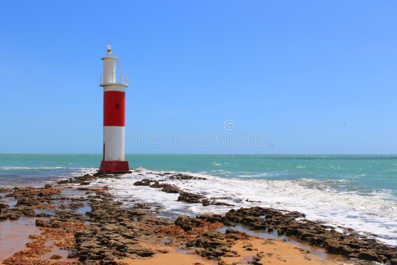 Farol de Galinhos, tranquilidade bonita e cenário original, Galinhos - RN, Brasil fotos de stock