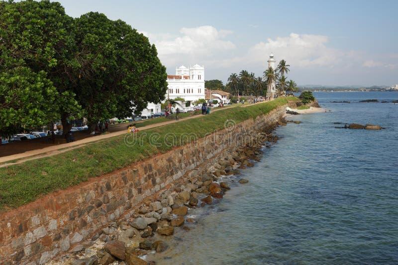 Farol de Galle em Sri Lanka fotografia de stock