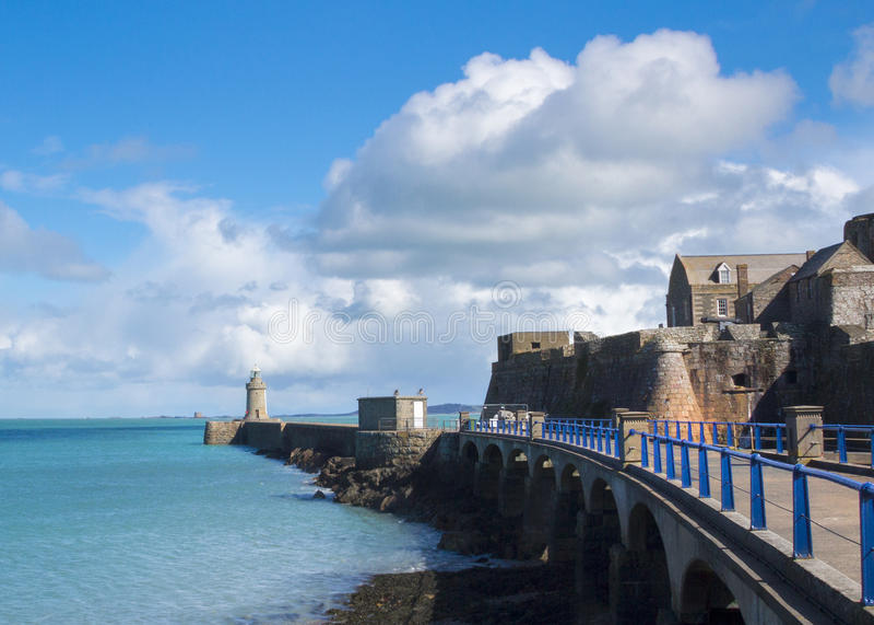 Farol de Guernsey fotos de stock