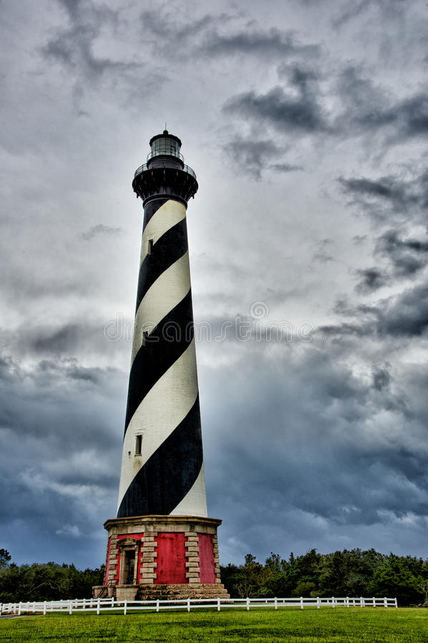 Farol de Hatteras do cabo, North Carolina fotos de stock royalty free