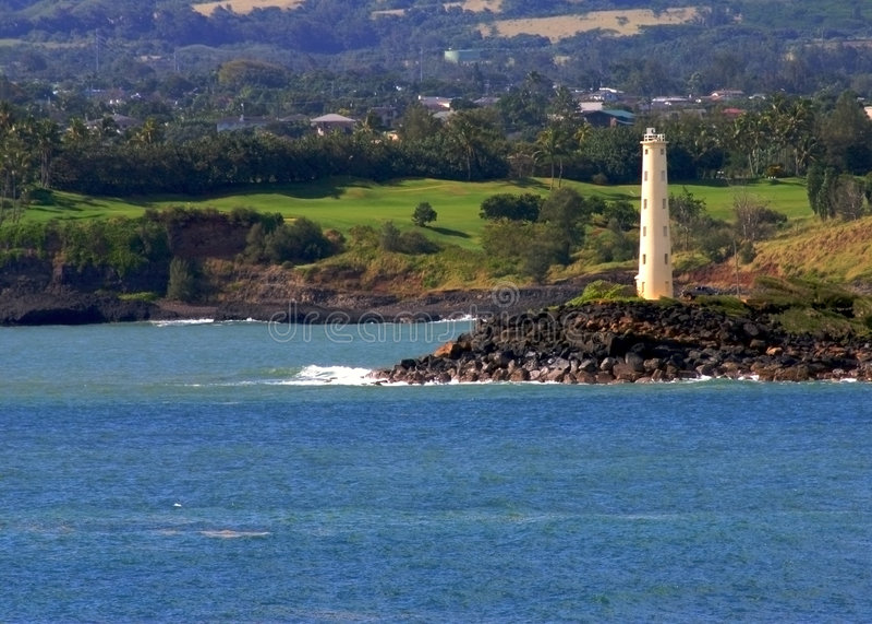Farol de Havaí fotos de stock royalty free