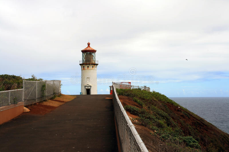 Farol de Kilauea imagem de stock