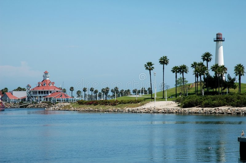Farol de Long Beach fotos de stock royalty free