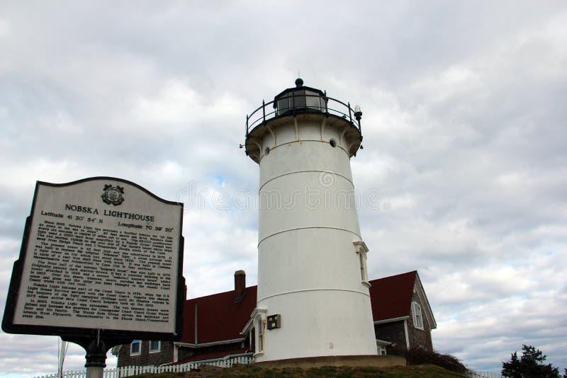 Farol de Nobska, Falmouth, Massachusetts, Estados Unidos fotos de stock