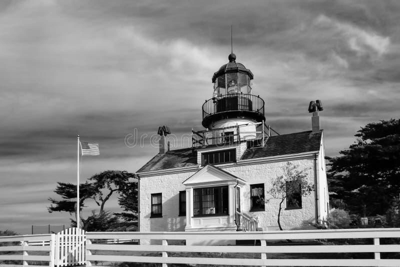 Farol de Pinos do ponto da baía de Monterey imagens de stock royalty free