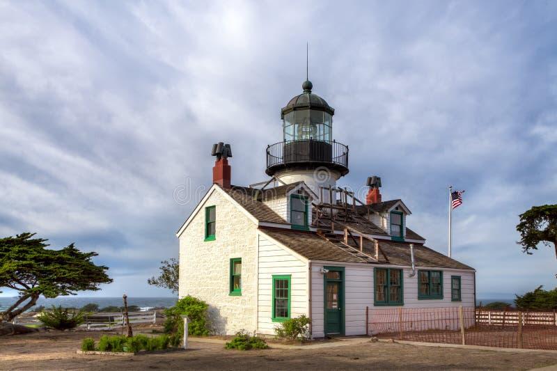 Farol de Pinos do ponto da baía de Monterey imagem de stock royalty free
