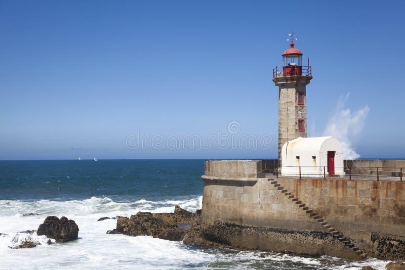 Farol de Porto, Portugal fotografia de stock royalty free