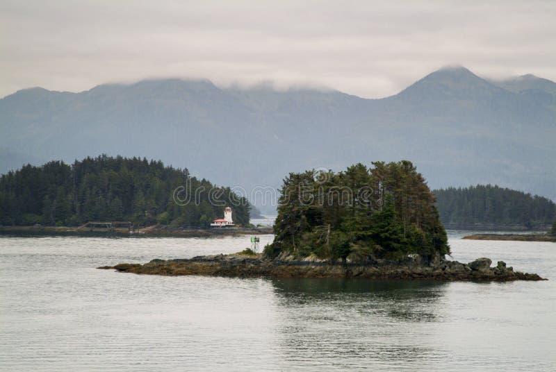 Farol de Rockwell, Sitka Alaska fotografia de stock