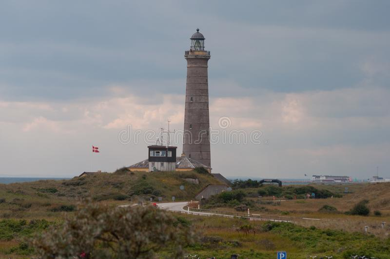 Farol de Skagen em Dinamarca fotografia de stock