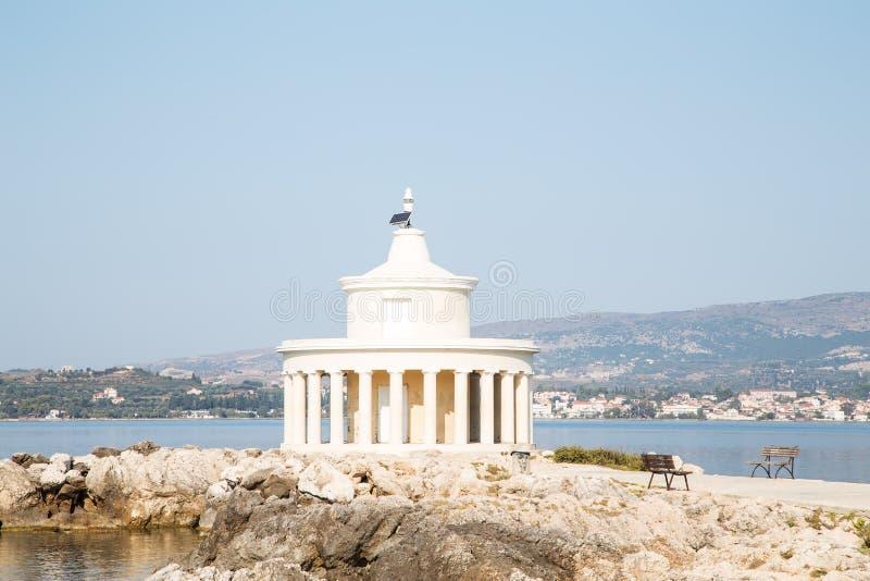 Farol de St Theodore em Kefalonia imagem de stock