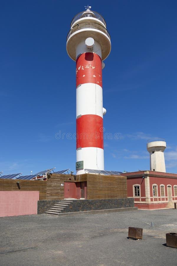 Farol de Toston no EL Cotillo em Fuerteventura imagem de stock royalty free