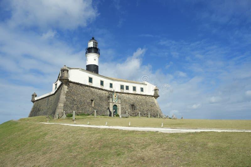 Farol a Dinamarca Barra Salvador Brazil Lighthouse imagens de stock