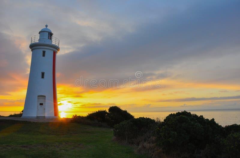 Farol do blefe de Mersey, Devonport, Tasmânia do norte, Austrália fotografia de stock