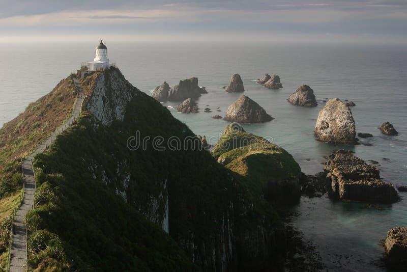 Farol do ponto da pepita, Catlins, Nova Zelândia fotografia de stock