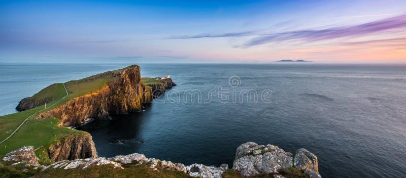 Farol do ponto de Neist em Skye fotografia de stock