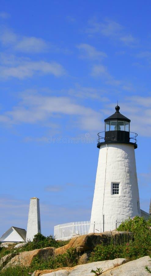 Farol do ponto de Pemaquid, Maine #1 imagens de stock