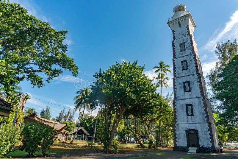 Farol do ponto do venus de Tahiti de robert louis stevenson foto de stock royalty free