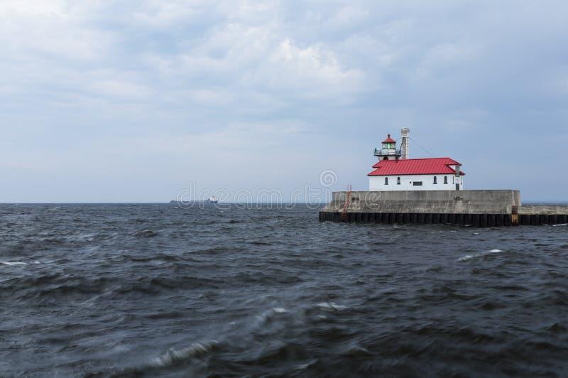Download Farol do porto de Duluth foto de stock. Imagem de costa - 26503838