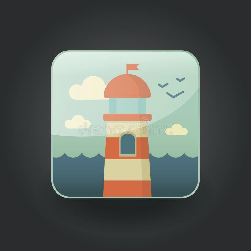 Farol dos ícones do App ilustração royalty free