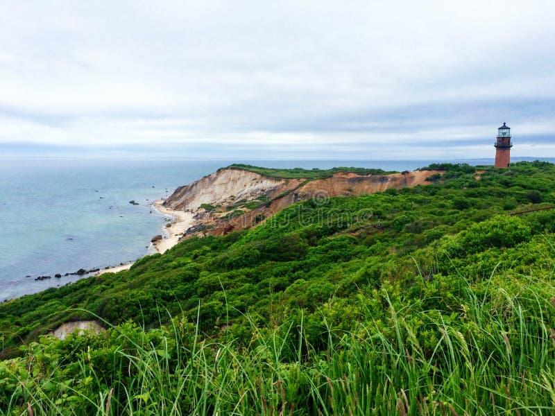 Farol e céu de Cape Cod imagem de stock royalty free