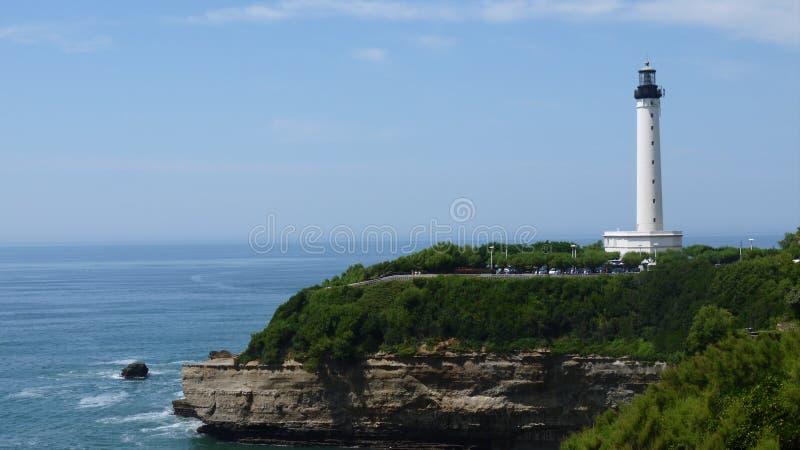 Farol em Biarritz fotografia de stock