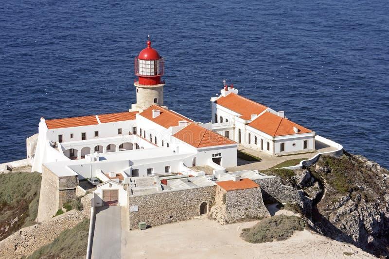 Farol em Cabo Vicente fotografia de stock royalty free