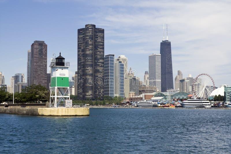 Farol em Chicago foto de stock