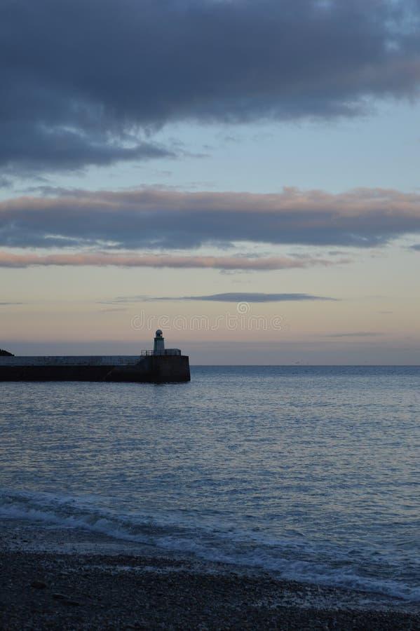 Farol em Laxey, ilha do homem imagens de stock royalty free