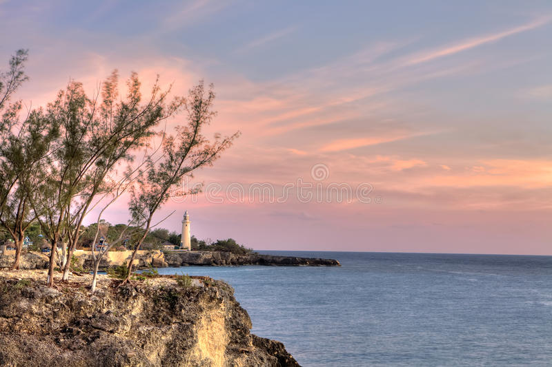 Farol em Negril, Jamaica fotos de stock royalty free