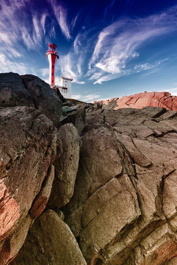 Farol em Nova Scotia - Yarmouth imagens de stock royalty free