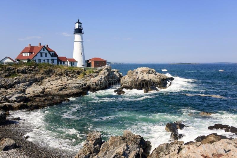 Farol em Portland, Maine imagem de stock royalty free