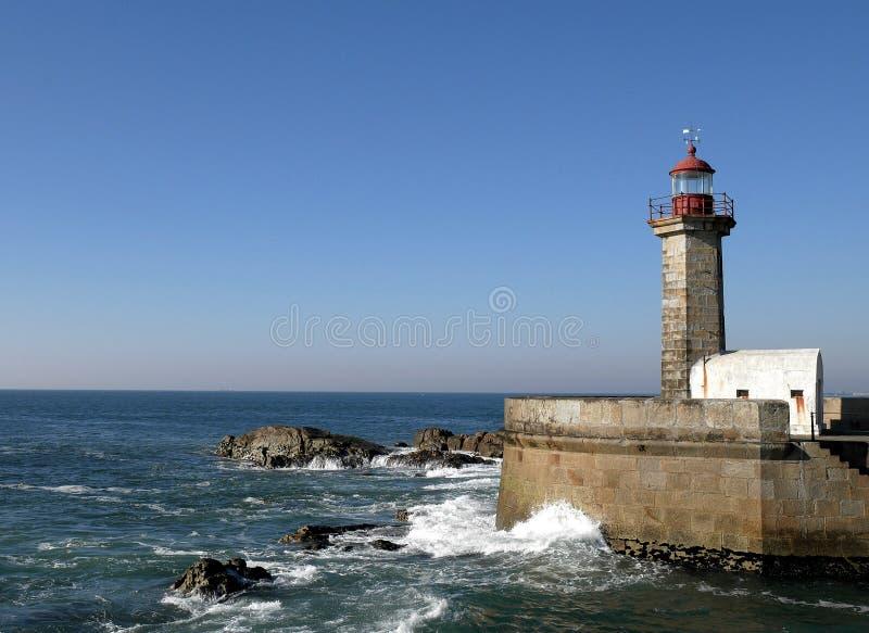 Farol em Porto, Portugal fotos de stock