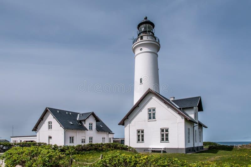 Farol em Skagen, Dinamarca fotografia de stock royalty free
