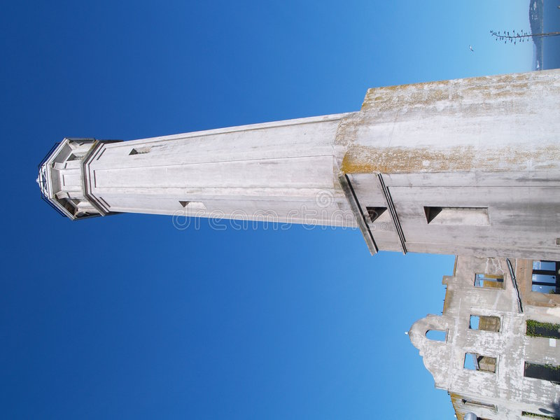 Farol histórico de Alcatraz imagens de stock royalty free