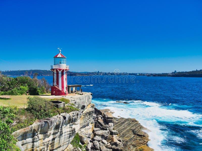 Farol histórico de Hornby, Sydney Harbour, Austrália imagens de stock royalty free