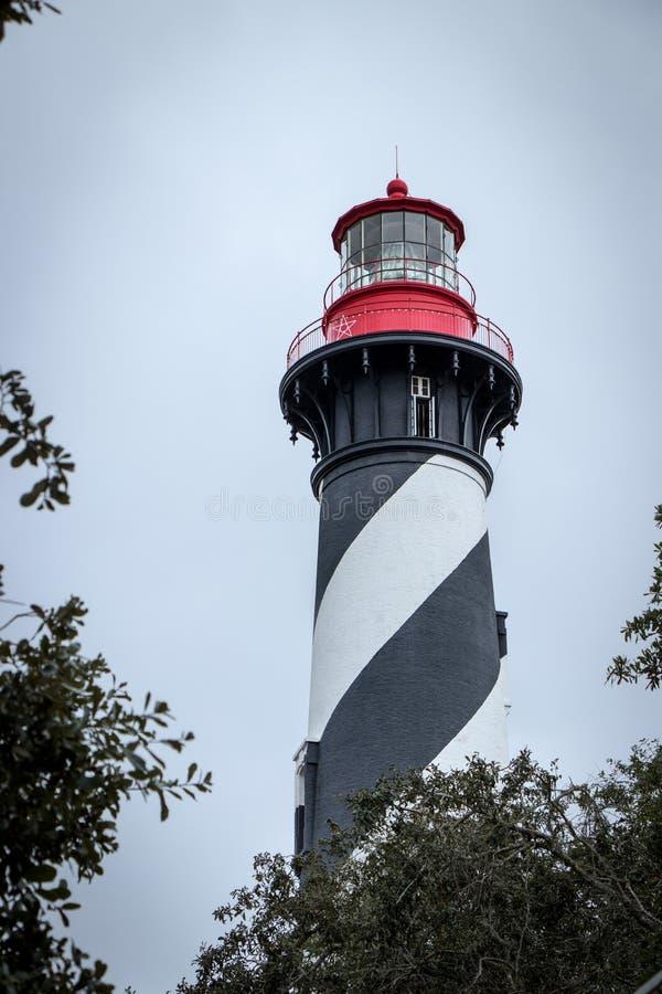Farol histórico em St Augustine, Florida imagens de stock