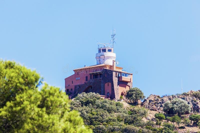 Farol na área de França - de Antibes foto de stock royalty free