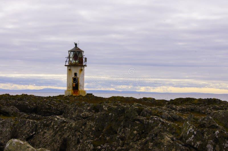 Farol na ilha de Buet fotografia de stock royalty free