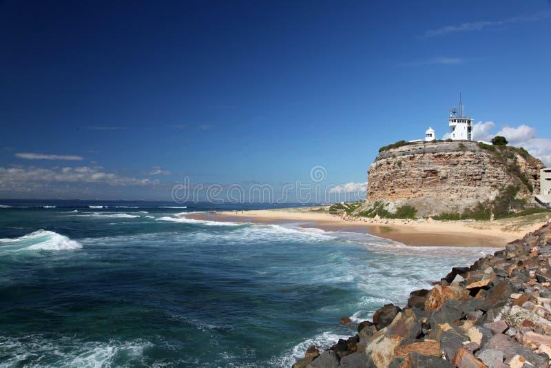 Farol - Newcastle Austrália foto de stock royalty free