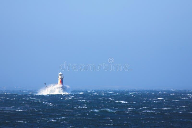 Farol no mar na cidade de Simons fotos de stock royalty free
