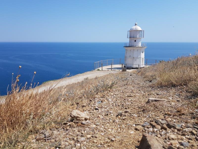 Farol no Mar Negro fotografia de stock
